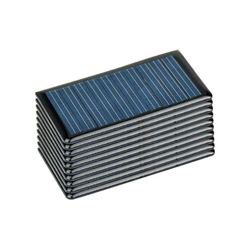 1V 80mAh 0.08W 30X25mm 1.2x1.0in Micro Mini Power Small Solar Cell Panel Module for DIY Solar Light Phone Monocrystalline Silicon Solar Panels for DIY Solar Cells PV Module (20pcs 3025mm 1.21in)