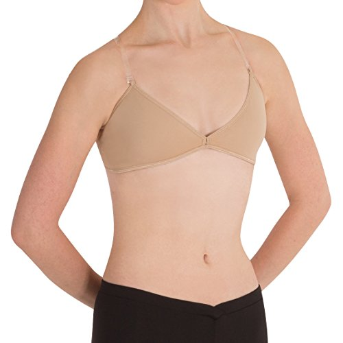 Body Wrappers Deep V Convertible Halter Bra, Nude, Large