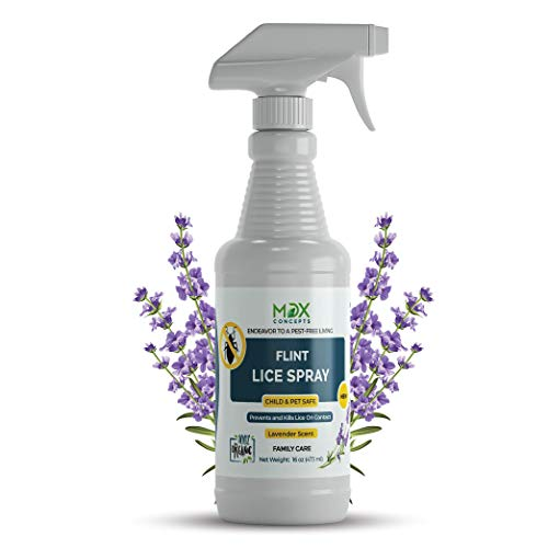 MDXconcepts Organic Lice Killer - Lavender Oil Lice Repellent Spray for Home, Bedding, Belongings – MADE IN USA - Child and Pet Safe – Non Toxic – Non Staining