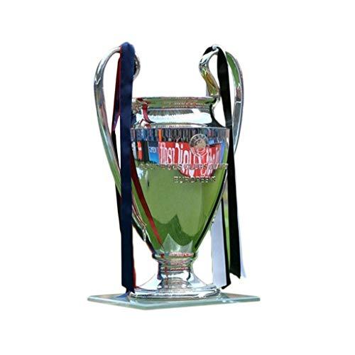 Trofei Champions League Trophy d'oro Campione in Marmo Base Britannica Premier Liverpool Souvenir Migliore Regalo Medaglia Modello (Color : Silver, Size : 77 * 57 * 42cm)