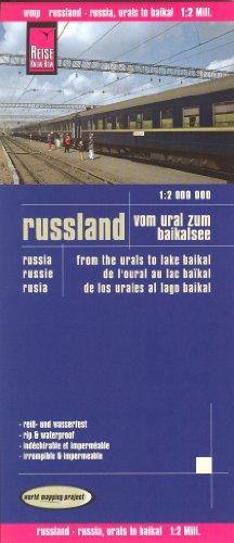 Rusia desde los Urales hasta el lago Baikal mapa de viajes 1:2.000.000, resistente al agua, compatible con GPS, Reise