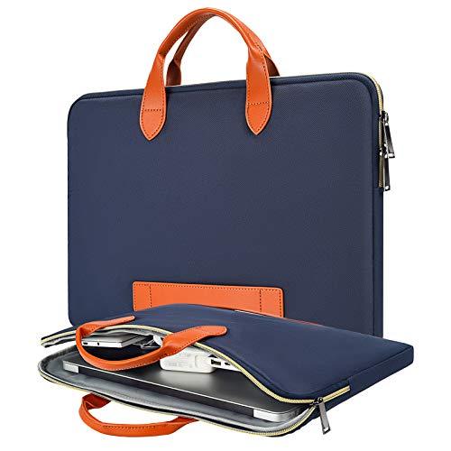 13.5-15 Inch Laptop Case, Men Women Laptop Bag with Handle for Dell Inspiron 13 5000 7000, Surface Laptop 3/Book 3, HP Pavilion x360/EliteBook 14, Lenovo Yoga C940 C740 14 Inch Carrying Case,Navy Blue