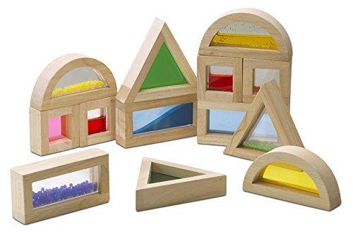 Inspirational Nurseries 3178888 - Bloques de Madera con sensores, Color Natural