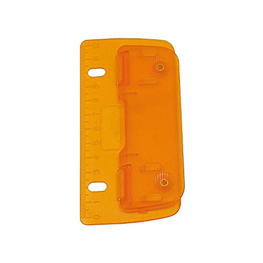 Wedo 67806 Double Hole Plastic Punch for Filing, for Punching 8 cm Holes, with a 12 cm Scale, Orange