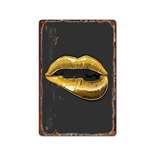 Ami0707 Plaque Vintage Sexy Kiss Red Lips Graffiti Natinal Flag Tin Signs Vintage Metal Plaques Coffee Shop Bar Art Decor Home Iron Paintings Posters 20x30cm 15