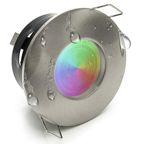 Faretto led box doccia 6W bagno turco cromoterapia IP65 GU10 lampada RGBW 6000K