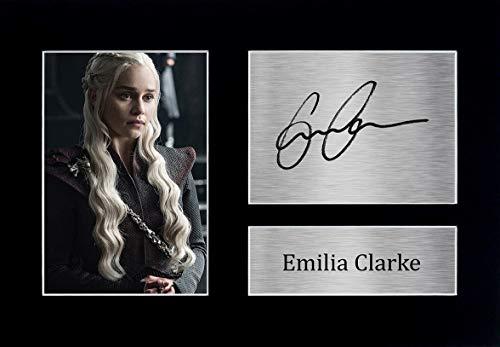 HWC Trading Emilia Clarke A4 Ungerahmt Signiert Gedruckt Autogramme Bild Druck-Fotoanzeige Geschenk Für Game of Thrones Tv-Show-Fans