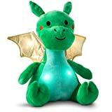 """FAO Schwarz 17"""" Dragon Plush Stuffed Animal Toy with LED Lights and Sound, Hug and Pet to Make it Talk, Ultra Soft & Snuggly Doll for Creative & Imagination Play, for Boys, Girls, Children Ages 3+"""