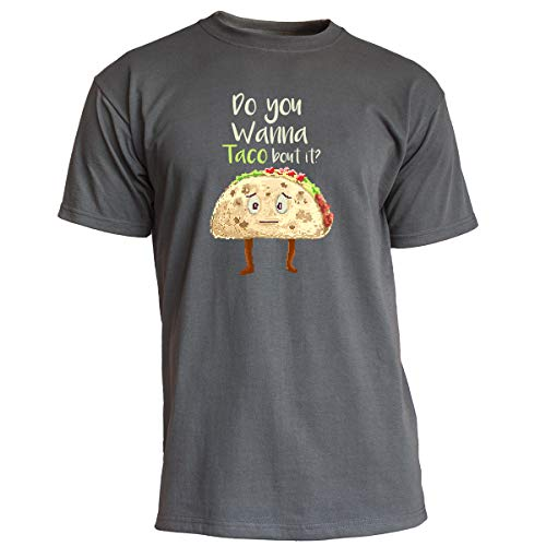 Nukular T-Shirt Do You Wanna Taco About it?, Farbe Graphit, Größe M