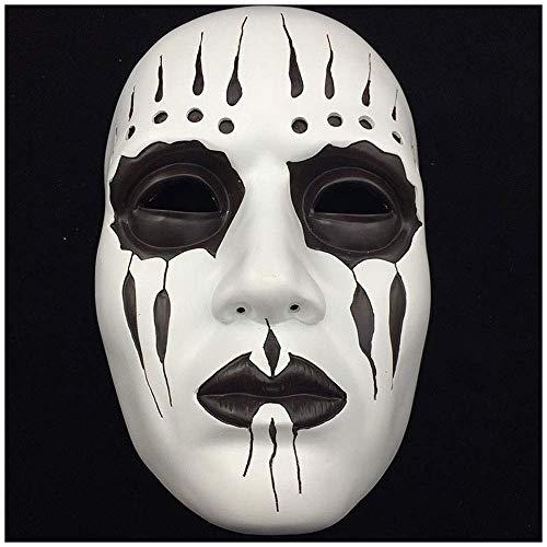 Wsjdmm Halloween Harz Slipknot Maske Joey Maske Terror Cos Erwachsenen Maske Weihnachten Halloween Maskerade Maske Kopfbedeckungen Hochwertige Harz Kopfbedeckung Spukhaus Requisiten Streich Requisiten