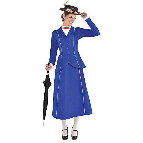 SUIT YOURSELF Mary Poppins Halloween Costume for Women, Mary Poppins, Small, Includes Hat
