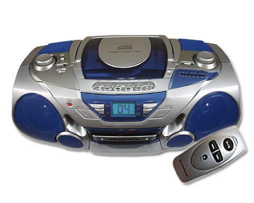SuperSonic SC-802CD AM FM Radio CD Player Cassette Recorder Boombox