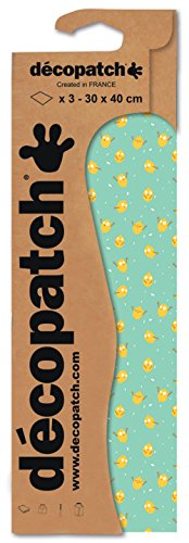 Decopatch Papier No. 733 (grün Pastell Zitronen, 395 x 298 mm) 3er Pack