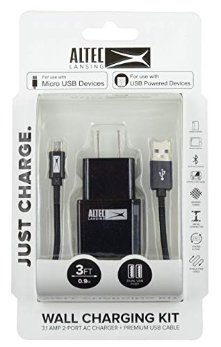 White Altec Lansing 10-Foot Lightning Fabric Cable