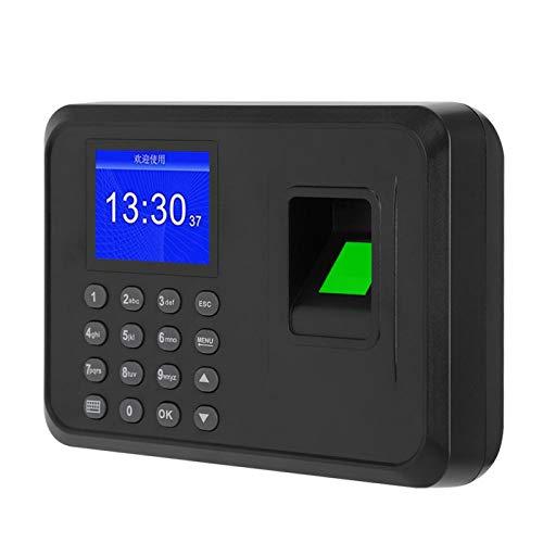 Sistema de grabación de tiempo de control de acceso de huellas dactilares, para capacidad de 1000 huellas dactilares, fácil de operar (regulación británica)