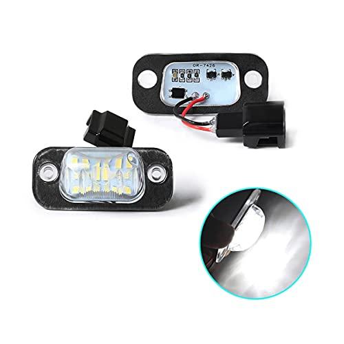 N\C Lámparas de luz de matrícula LED de 2 uds para V-W P-olo 3 Classic Variant Golf 3 Cabriolet GTI R32 para S-Eat Ibiza Cordoba Vario 6K