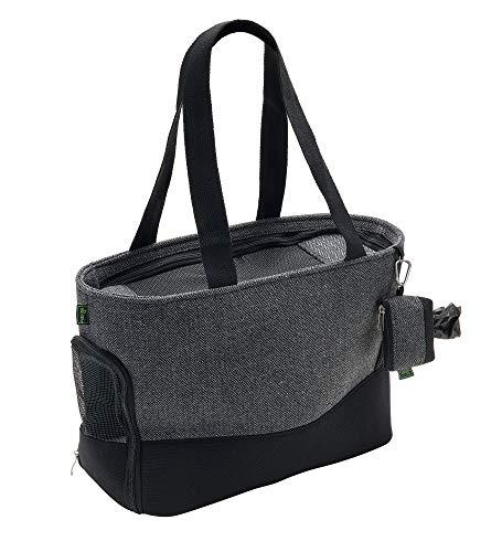 HUNTER BARCELONA Tragetasche, Transporttasche für Hunde und Katzen, 40 x 20 x 30 cm, grau