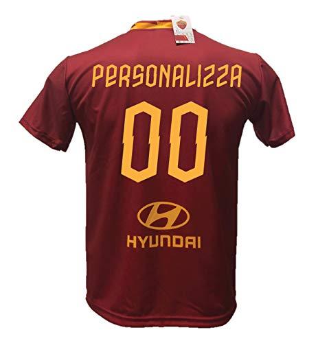 Maglia Calcio Roma Personalizzabile Replica Autorizzata 2019-2020 Taglie da Bambino e Adulto. Personalizza con Il Tuo Nome o del Tuo Giocatore Preferito. (12 Anni)