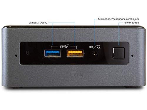 Intel NUC NUC8i3BEH Mini PC/HTPC, Intel Dual-Core i3-8109U Upto 3.6GHz, 8GB DDR4, 256GB SSD, WiFi, Bluetooth, Thunderbolt 3, 4k Support, Dual Monitor Capable, Windows 10 Pro (8GB Ram + 256GB SSD)