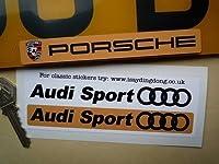 Audi Sport Number Plate Dealer Logo Cover Stickers アウディ ステッカー デカール シール 海外限定 180mm 2枚セット [並行輸入品]