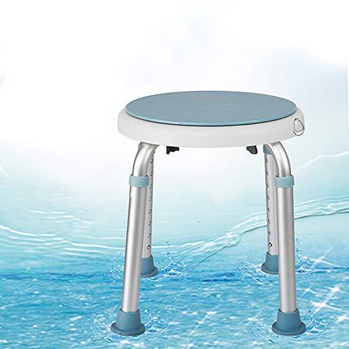VINGO Duschstuhl Badehocker Stabiler Höhenverstellbarer Duschhocker Duschsitz mit Anti-Rutsch-Füße für Behinderte, Schwangere und Alter