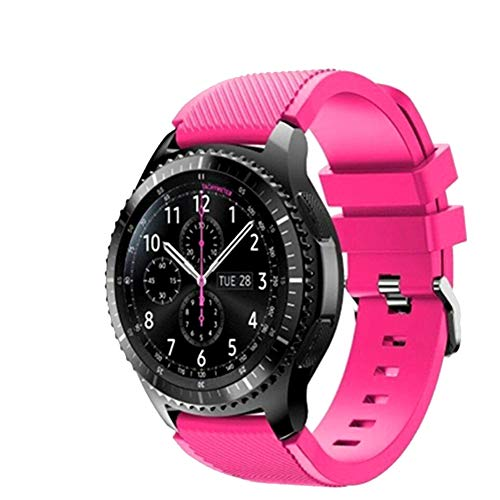 FunBand Correa para Gear S3 Frontier, 22MM Reemplazo de Banda de Silicona Suave Deportiva Pulsera de Repuesto para Samsung Gear S3 Frontier/Galaxy Watch 46mm / Moto 360 2nd Gen 46mm Smart Watch