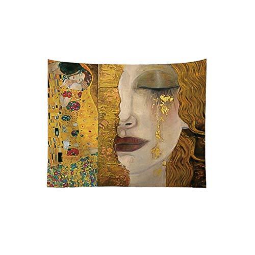 Tapiz de pared Befitery psicodélico para colgar en la pared, estilo bohemio, para salón, dormitorio, decoración (estilo 3, 130 cm x 150 cm)