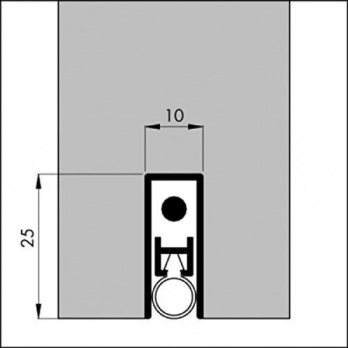DIWARO® Automatische - Türbodendichtung TB027   aluminium pressblank   Länge 630 mm   geeignet als Türdichtung zum Schutz vor Rauch, Kälte und hohen Heizkosten. Die Absenkautomatik senkt und schließt sich mit dem Öffnen und Schließen der Tür.
