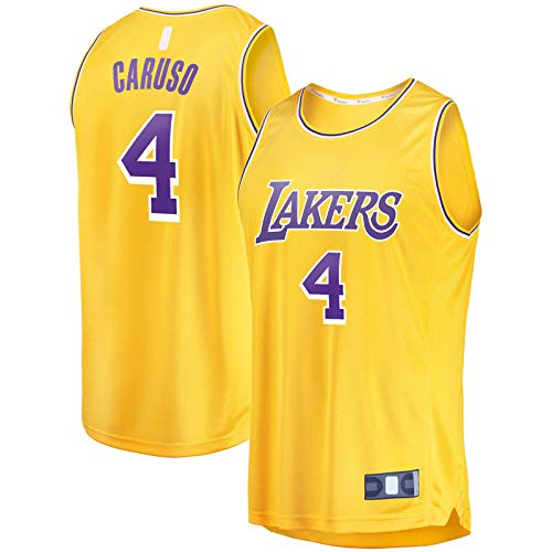 DAEYU producto popular Al aire libre Alex Sports Caruso Basketball Jersey Los Top Sin Mangas Angeles Oro - Lakers #4 Fast Break Player Jersey Icono Edition-L