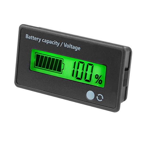 Makerfire Digitaler Batteriekapazitätstester Monitoranzeige Wasserdichter LCD-Spannungsprüfer für 12-84 V LiPo-Bleiakkus