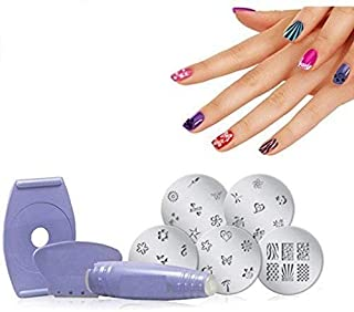 Utilityzone Salon Nail Polish Art Decoration Stamping Design Kit Decals Paint Stamp