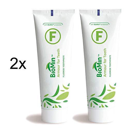 BioMin F Zahnpasta 75ml, 2er Pack (2x 75ml) Sparpack, mit Fluorid