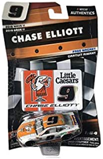 NASCAR Authentics Chase Elliott #9 Diecast Car 1/64 Scale - 2018 Wave 11 - with Die Cut Magnet - Collectible