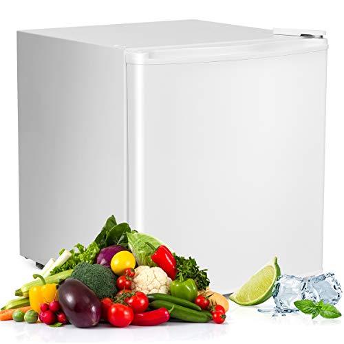 COSTWAY Mini Frigorifero, Frigorifero con Congelatore, Classe di Efficienza Energetica A+, 48L (Bianco)