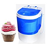 Lavadoras Lavadora de bañera pequeña semiautomática portátil, capacidad antibacteriana Blu-ray 4kg (blanco) Capacidad de micropermos domésticos portátiles de automóviles, for camping dormitorios apart