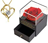 Sharman's Charm, Preserved Real Rose With Necklace, Eternal Rose, Gifts For Her, Mothers Day Gifts, Anniversary Gift For Her, For Her, Girlfriend Gifts, Romantic Gifts, Valentines Day Gifts For Her