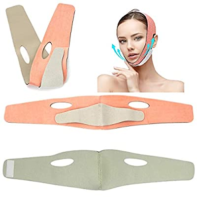 Face Slimming Strap, Facial Weight Lose Slimmer Device Double Chin Lifting Belt, Pain Free V-Line Chin Cheek Lift Up Band Anti Wrinkle Eliminates Sagging Anti Aging Breathable Face Shaper Band by YVAN