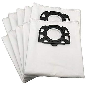 Type: pièces d'aspirateur 12 sacs à poussière Aspirateur compatible: sac à poussière pour Karcher MV4 MV5 MV6 WD4 WD5 WD6 sac à poussière lavable