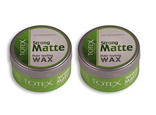 TOTEX Hair Styling Wax Strong Matte 150 ml (2 Stück) Haarwax - Haarwachs