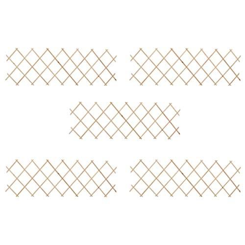 vidaXL 5X Tannenholz Massiv Rankzaun Erweiterbar Rankgitter Rankhilfe Scherengitter Spalier Blumengitter Pflanzengitter Holzgitter 180x60cm
