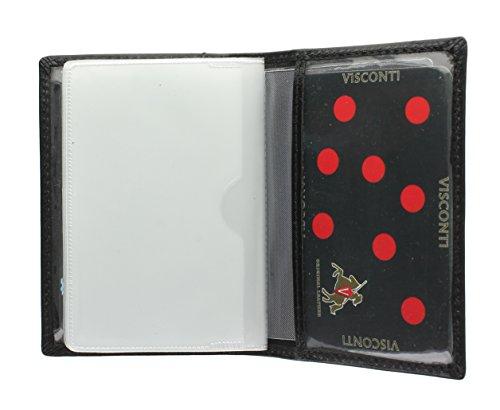 Visconti Tarjetero de Crédito de Cuero TC1 Negro