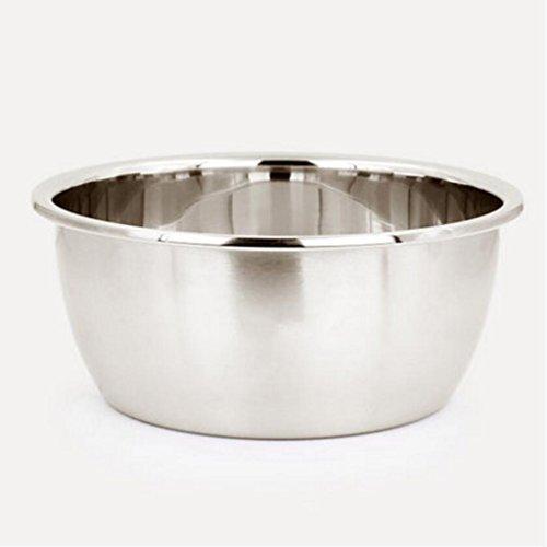 Bassin de soupe MXJ61 304 Bassin en Acier Inoxydable Approfondissez Le Plus épais Rond en Train de Vaisselle de Cuisine Vasque de légumes Pots Combattez Le Pot d'oeufs (Taille : 20cm)