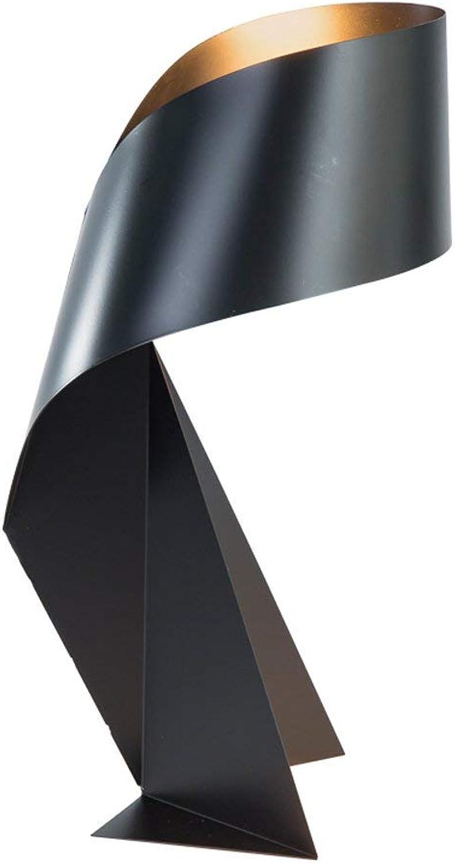 Tischlampe mit fernbedienung nordischen schmiedeeisernen schreibtischlampe einfache nachttischlampe dekorative studie leselampe (Farbe   schwarz-Button switch)