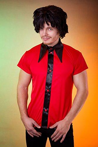 Marco Porta Bowling Hemd Filmstar Kostüm (Large, Rot)