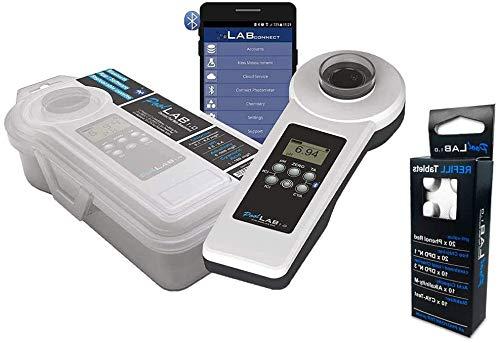 well2wellness® Elektronischer Pool Wassertester PoolLab 1.0 - Prime Version 1 Plus 1 x Refill extra