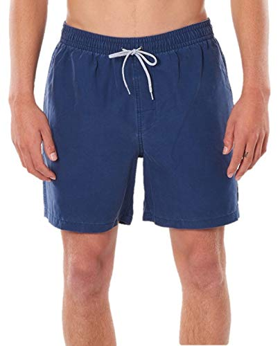 Rip Curl Bondi Pigment Volley Boardshorts | 17' | The Ultimate Comfort Shorts for The Shore Or in The Water Navy