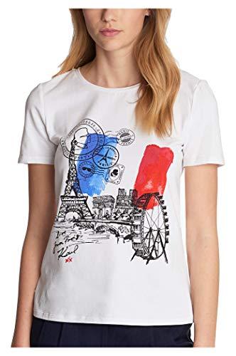 Karl Lagerfeld Paris Damen French Flag Tee Hemd, Weiß (Soft White), X-Groß