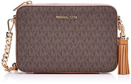Michael Kors Crossbody - Bolso Bandolera para Mujer, Marrón (Brown), 15 x 10 x 5 cm