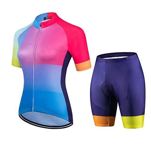WPW Conjunto de Maillot de Ciclismo para Mujer, Camisetas de Ciclismo MTB...