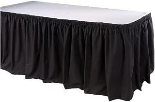 Phoenix 17-1/2 英尺桌裙,衬衫,黑色